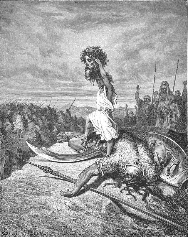 David Slays Goliath by Gustave Doré (1866)