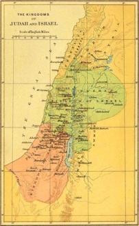 Judah Israel Map