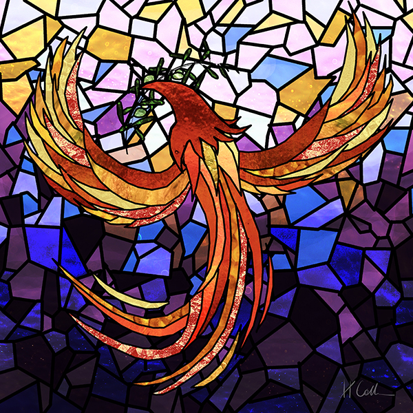 Ebenezer Phoenix Stained Glass (small)